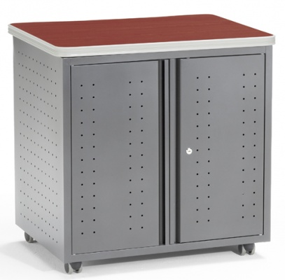 OFM File Pedestal Utility/Copy/Fax Table with Doors 66746