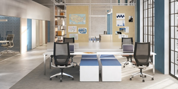First Office Benching Systems STAKS Configurations 1-3