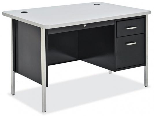OfficeSource 600 Series Steel Teacher's Desk One Pedestal
