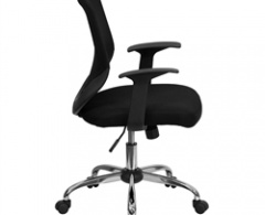 Mid Back Black Mesh Chair with Mesh Fabric Seat