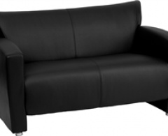 Majestic Series Black Leather Love Seat