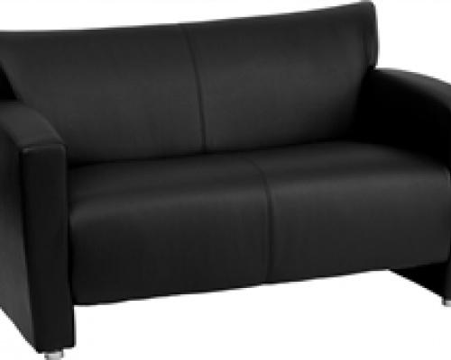 majestic-series-black-leather-love-seat