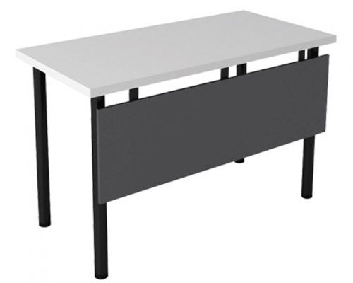 training-table-with-mahogany-top-and-metallic-t-arc-legs