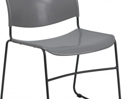 880lb Capacity High Density Ultra Compact Stack Chair with Black Frame