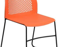 Designer 661 lb Capacity Stack Chair with Air-Vent Back