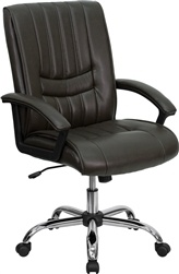 Espresso Leather Manager's Chair