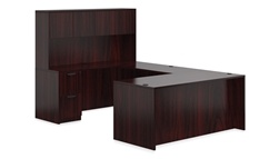 U-Desk with Hutch by Offices to Go