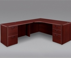 """Cherryman Amber 71"""" x 66"""" L-Credenza with Inner Curve"""