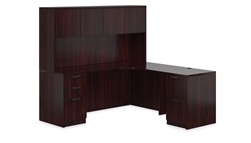 L-Desk with Hutch by Offices to Go