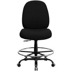 400-lb.-capacity-big-and-tall-black-fabric-armless-drafting-stool-with-extr
