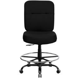 400-lb.-capacity-armless-big-tall-black-fabric-drafting-stool-with-extra-wi
