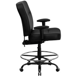 400-lb.-capacity-big-tall-black-leather-drafting-stool-with-extra-wide-seat