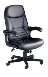 Big & Tall Executive Leather Pivot Arm Chair by Mayline