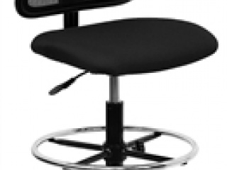 spira-mid-back-armless-mesh-drafting-stool-with-black-fabric-seat