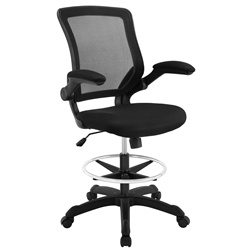 Attainment Mesh Back Drafting Stool with Black Seat