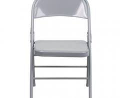 Hercules Series Gray Metal Folding Chair