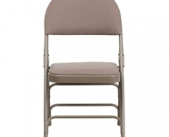 Hercules Series Curved Multi-Fabric and Metal Folding Chair