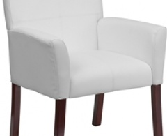 White Leather Executive Side Chair