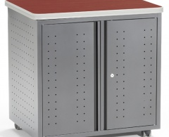 """Mobile Locking Utility/Fax/Copy Table 30"""" X 23.25"""""""