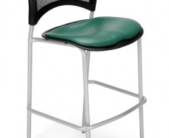 Moon Cafe Height Vinyl Silver Chair