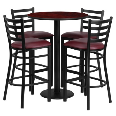 "30"" Round Bar Height Table Set with Round Base"