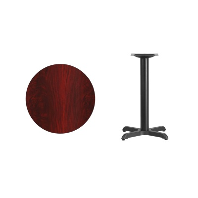 """24"""" Round Table with Black X-Base"""