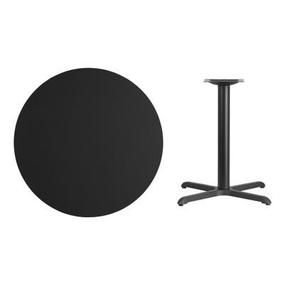 """36"""" Round Table with Black X-Base"""