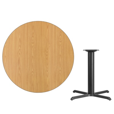 """42"""" Round Table with Black X-Base"""