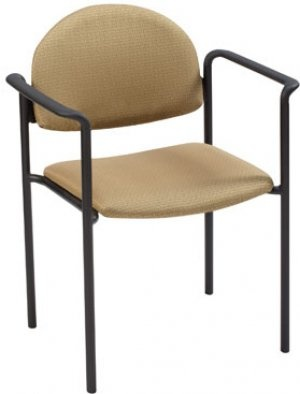 Half Moon Back Stack Chair with Arms from KFI