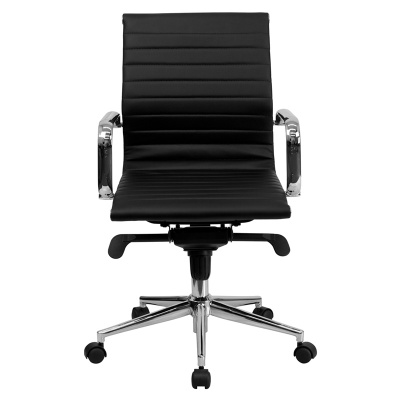 Mid Back Ribbed Leather Executive/Conference Chair