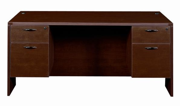 Amber Series Box/File Suspended Double Pedestal Desks