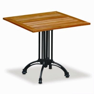 Square Teak Indoor/Outdoor Cafe Table