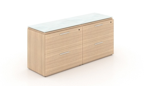 potenza-4-drawer-lateral-file-credenza-with-white-glass-top