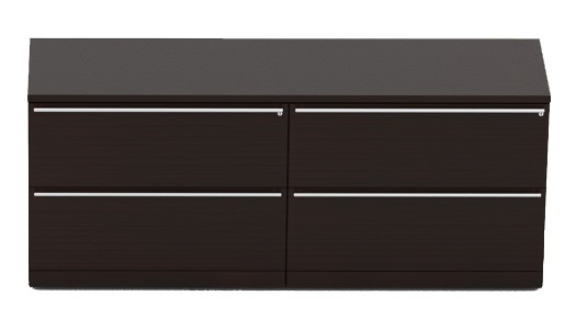 Verde 4-Drawer Lateral File Credenza