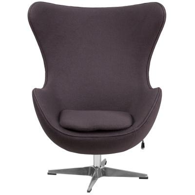 Egg Chair in Gray Wool