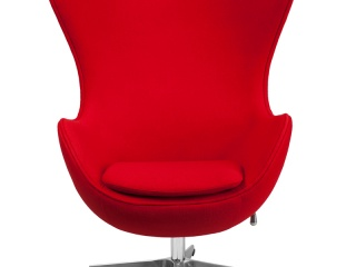 egg-chair-in-red-wool