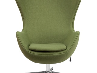 egg-chair-in-grass-green-wool