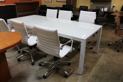 Sling Series 8' Glass Conference Table