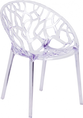 Specter Series Crystal Stacking Side Chair