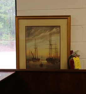 Ship/Harbor Framed Print