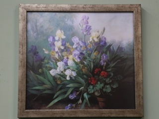 floral-print-framed