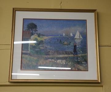 Impressionist Style Framed Print - Harbor