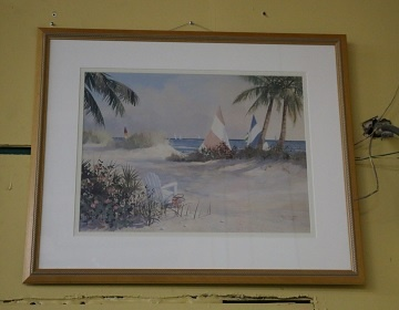 Framed Print - Beach with Sailboats