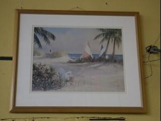 framed-print-beach-with-sailboats