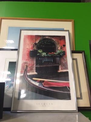 Gondola Framed Poster