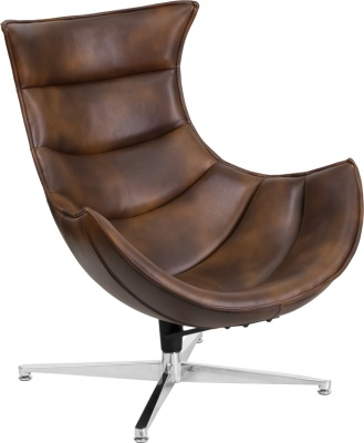 Cocoon Chair in Bomber Brown Leather
