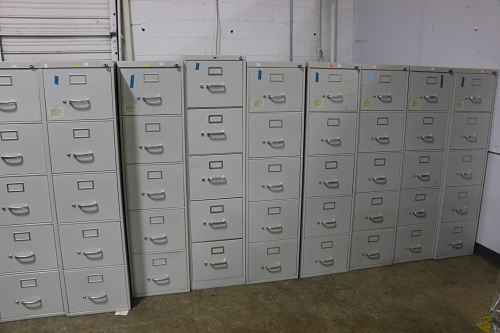Steelcase / Hon 5-Drawer Vertical Filing Cabinets