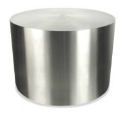 "Orb Series 24"" Brushed Silver End Table"