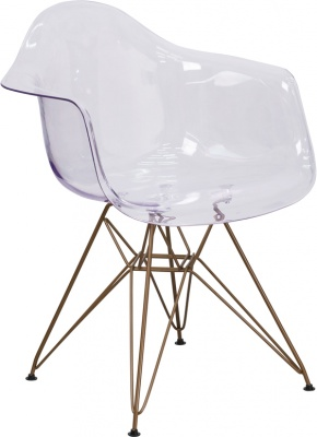 Allure Series Side Chair with Gold Frame