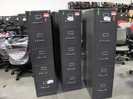 hon-dark-gray-5-drawer-vertical-files